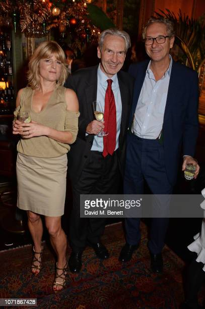 Rachel Johnson Kim Fletcher and John Witherow join Hornby and Halpern Prince at their annual Christmas drinks in Mayfair at Annabel's on December 11...
