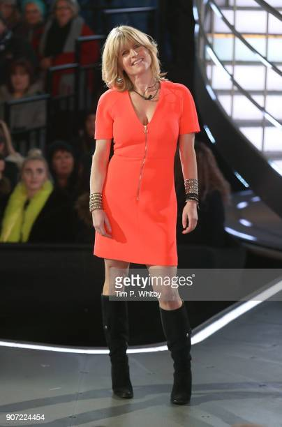Rachel Johnson leaves the Big Brother house during a Celebrity Big Brother live eviction at Elstree Studios on January 19 2018 in Borehamwood England