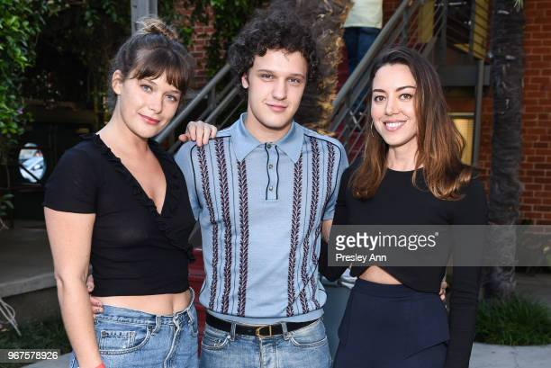 Rachel Keller Antonio Marziale and Aubrey Plaza attend Special Screening And QA For Netflix's 'Alex Strangelove' at Los Angeles LGBT Center on June 4...