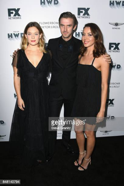 Rachel Keller Dan Stevens and Aubrey Plaza attend FX and Vanity Fair Emmy Celebration at Craft on September 16 2017 in Century City California