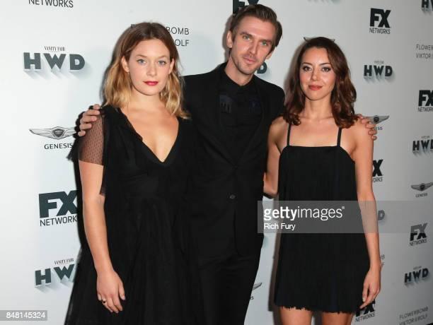 Rachel Keller Dan Stevens and Aubrey Plaza attend FX and Vanity Fair Emmy Celebration at Craft on September 16 2017 in Century City California