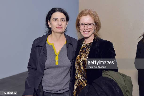 Rachel Khedoori and Manuela Wirth attend Hauser Wirth Los Angeles Opening of Annie Leibovitz and Piero Manzoni and Musical Performance by Patti Smith...