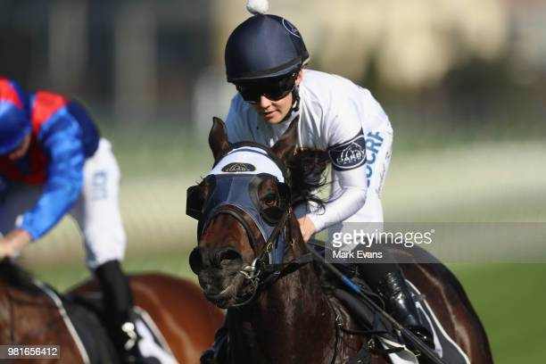 Tye Angland returns to scale after winning race 8 on High Mist during Sydney Racing at Royal Randwick Racecourse on June 23 2018 in Sydney Australia