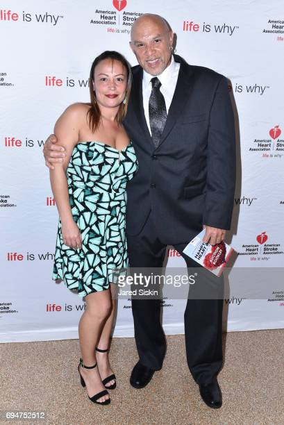 Rachel Lara and Frank Williams attend the 21st Annual Hamptons Heart Ball at Southampton Arts Center on June 10 2017 in Southampton New York
