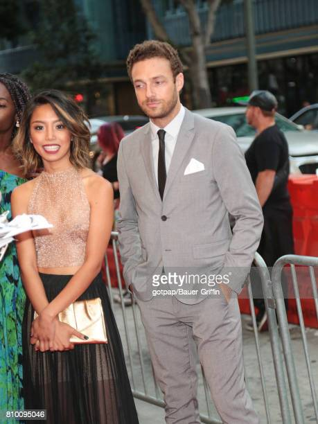 Rachel Layco and Ross Marquand are seen on July 06 2017 in Los Angeles California