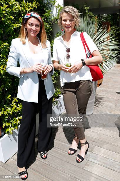 Rachel LegrainTrapani and France Pierron attend the 2019 French Tennis Open Day Four at Roland Garros on May 29 2019 in Paris France