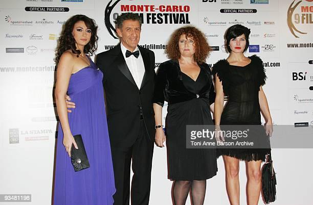 Rachel LegrainTrapani Ezio Greggio Valerie Mairesse and Delphine Chaneac arrive at the Monte Carlo Comedy Film Festival Gala Awards Ceremony at the...