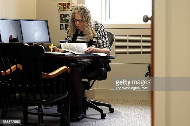 Rachel Levine MD physician general for the state of Pennsylvania works at her desk in Harrisburg PA on May 17 2016 Levine is transgender