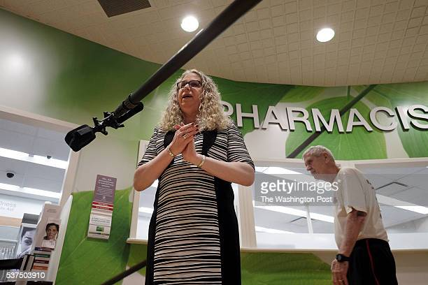 Rachel Levine, MD, physician general for the state of Pennsylvania, is interviewed following a press conference at a pharmacy in Harrisburg, PA, on...