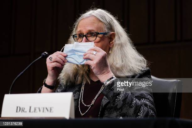 Rachel Levine, nominee for Assistant Secretary in the Department of Health and Human Services, testifies at her confirmation hearing before the...