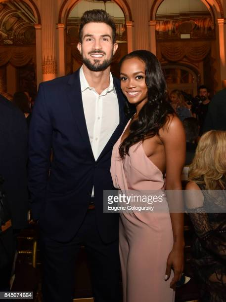 Rachel Lindsay and Bryan Abasolo attend the Dennis Basso fashion show during New York Fashion Week The Shows at The Plaza Hotel on September 11 2017...