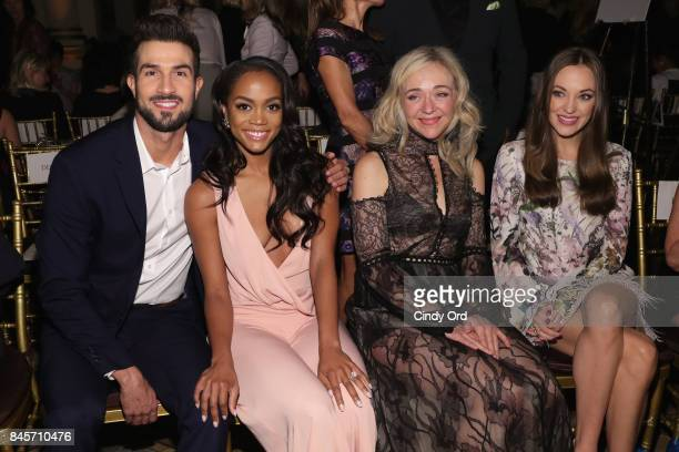 Rachel Lindsay Bryan Abasolo Rachel Bay Jones and Laura Osnes attend Dennis Basso fashion show during New York Fashion Week The Shows at The Plaza...