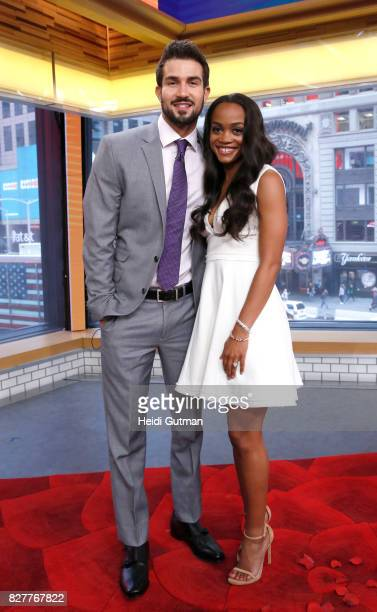 AMERICA Rachel Lindsay got engaged to Bryan Abasolo on the finale of The Bachelorette The happy couple are guests on Good Morning America Tuesday...