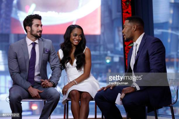 AMERICA Rachel Lindsay got engaged to Bryan Abasolo on the finale of 'The Bachelorette' The happy couple are guests on 'Good Morning America' Tuesday...