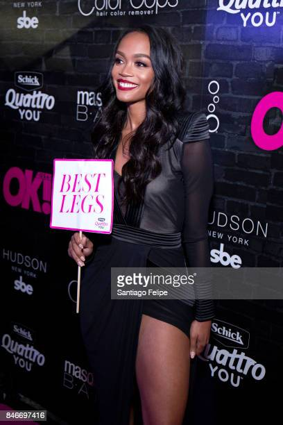 Rachel Lindsay of 'The Bachelorette' attends OK Magazine's Fall Fashion Week 2017 Event at Hudson Hotel on September 13 2017 in New York City