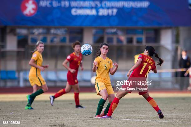 Rachel Lowe of Australia in action during their AFC U19 Women's Championship 2017 3rd and 4th placing match between Australia and China at Jiangning...