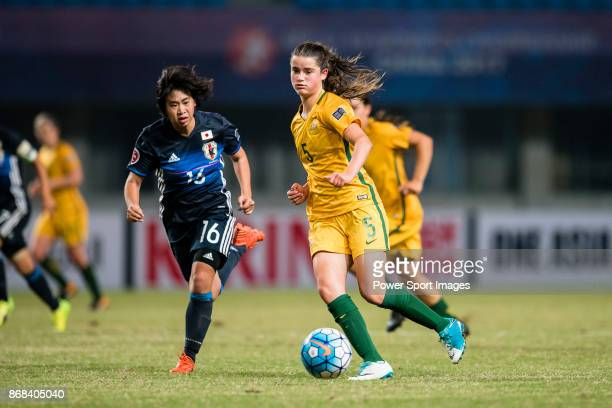 Rachel Lowe of Australia in action during their AFC U19 Women'u2019s Championship 2017 Group Stage B match between Australia and Japan at Jiangning...
