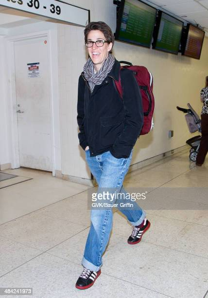 Rachel Maddow seen at LAX on April 11 2014 in Los Angeles California