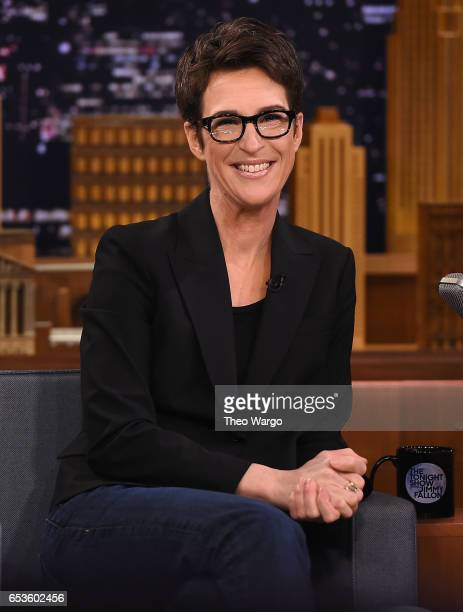 Rachel Maddow Visits The Tonight Show Starring Jimmy Fallon at Rockefeller Center on March 15 2017 in New York City