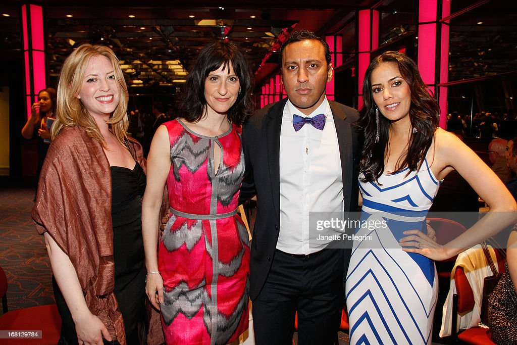 Rachel Maran, Lillian Lasalle, Aasif Mandvi and Sheetal Sheth attend the 28th Annual Lucille Lortel Awards After Party on May 5, 2013 in New York City.