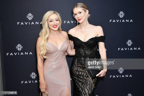 Rachel Martino and Cheralee Lyle attend Faviana's Annual Oscars Red Carpet Viewing Party on February 24 2019 at 75 Wall St in New York City