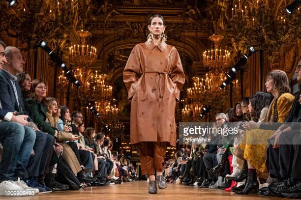 Rachel Marx walks the runway during the Stella McCartney as part of the Paris Fashion Week Womenswear Fall/Winter 2020/2021 on March 02, 2020 in...