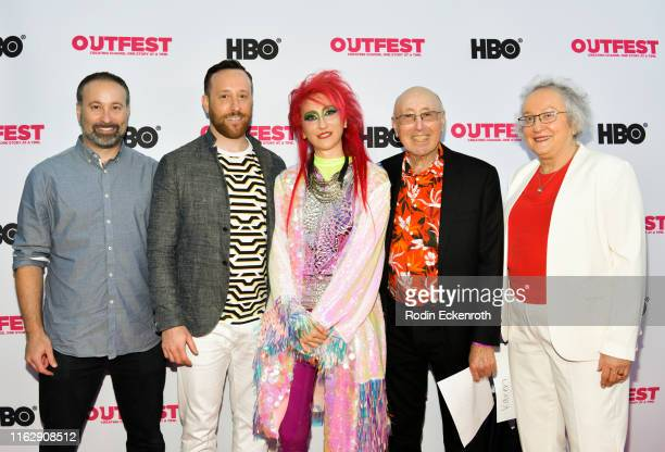 Rachel Mason Barry Mason and Karen Mason attend the Outfest Los Angeles LGBTQ Film Festival Opening Night Gala premiere of Circus Of Books at Orpheum...