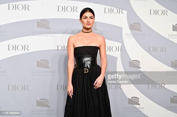 Rachel Matthews attends 2019 Guggenheim International Gala PreParty at Solomon R Guggenheim Museum on November 13 2019 in New York City