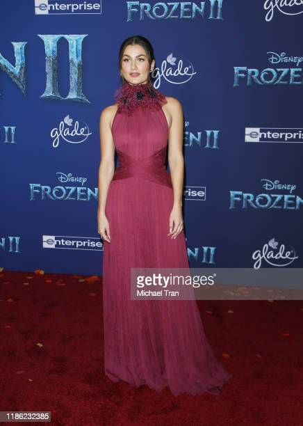 Rachel Matthews attends the world premiere of Disney's Frozen 2 held at Dolby Theatre on November 07 2019 in Hollywood California