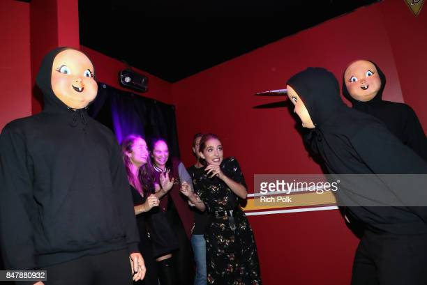 Rachel Matthews Ruby Modine and Jessica Rothe attend Halloween Horror Nights Opening Night Red Carpet at Universal Studios Hollywood on September 15...