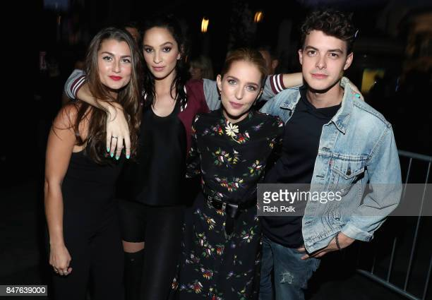 Rachel Matthews Ruby Modine Jessica Rothe and Israel Broussard attend Halloween Horror Nights Opening Night Red Carpet at Universal Studios Hollywood...
