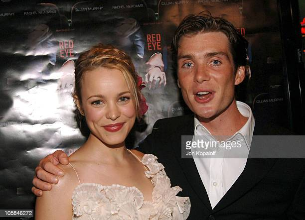 Rachel McAdams and Cillian Murphy during 'Red Eye' Los Angeles Premiere Red Carpet at Mann Bruin Theater in Westwood California United States