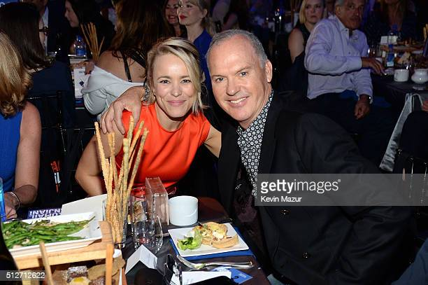 Rachel McAdams and Michael Keaton attend 2016 Film Independent Spirit Awards on February 27 2016 in Santa Monica California