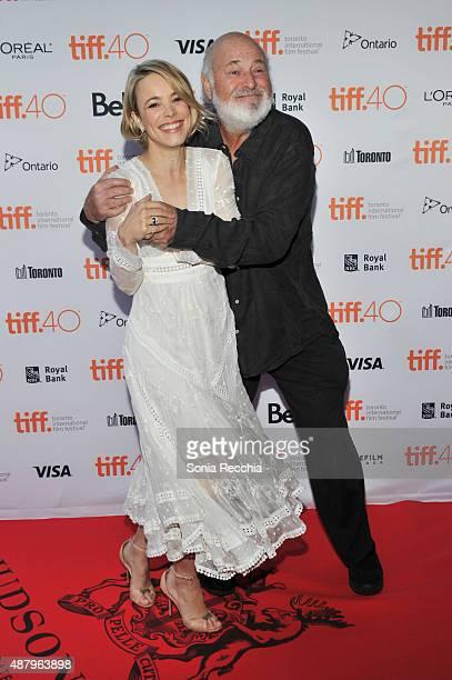 Rachel McAdams and Rob Reiner walk the carpet at 2015 Toronto International Film Festival Jason Reitman's Live Read Photo Call at Ryerson Theatre on...