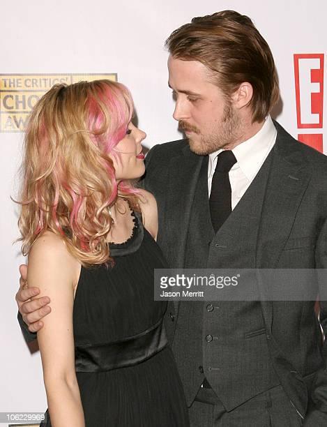Rachel McAdams and Ryan Gosling during 12th Annual Critics' Choice Awards Arrivals at Santa Monica Civic Auditorium in Santa Monica California United...