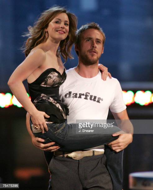 Rachel McAdams and Ryan Gosling reprise their roles in The Notebook for Best Kiss Award at the Shrine Auditorium in Los Angeles California