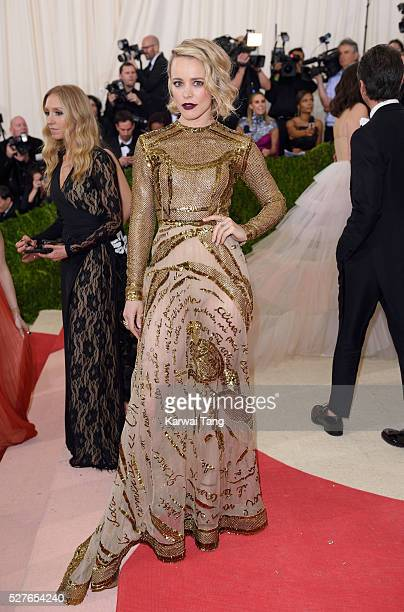 """Rachel McAdams arrives for the """"Manus x Machina: Fashion In An Age Of Technology"""" Costume Institute Gala at Metropolitan Museum of Art on May 2, 2016..."""