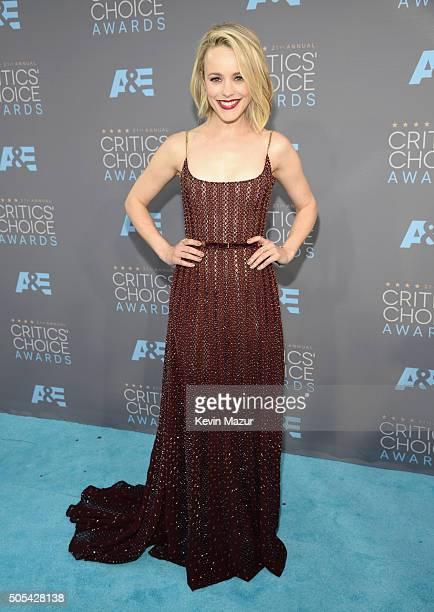 Rachel McAdams attends the 21st Annual Critics' Choice Awards at Barker Hangar on January 17 2016 in Santa Monica California