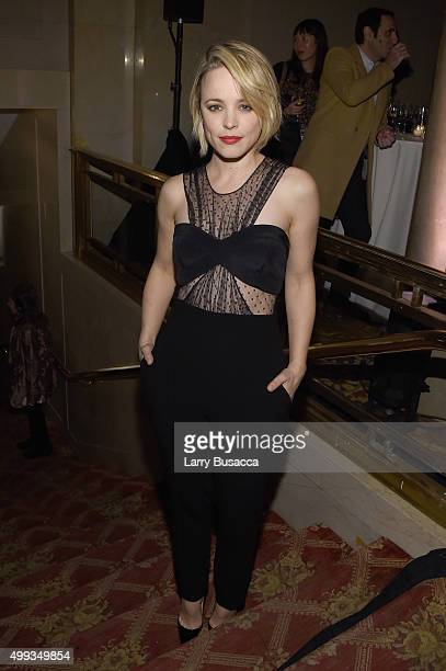 Rachel McAdams attends the 25th IFP Gotham Independent Film Awards cosponsored by FIJI Water at Cipriani Wall Street on November 30 2015 in New York...