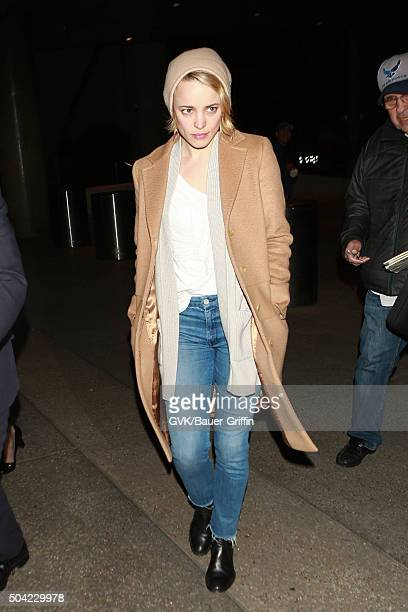 Rachel McAdams is seen at LAX on January 09 2016 in Los Angeles California