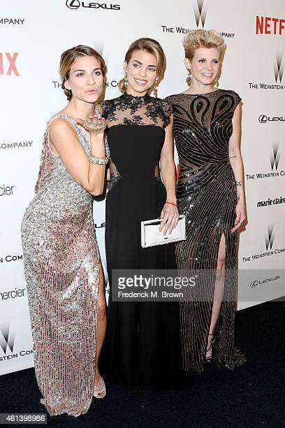 Rachel McCord actress AnnaLynne McCord and Angel McCord attend the 2015 Weinstein Company and Netflix Golden Globes After Party at Robinsons May Lot...