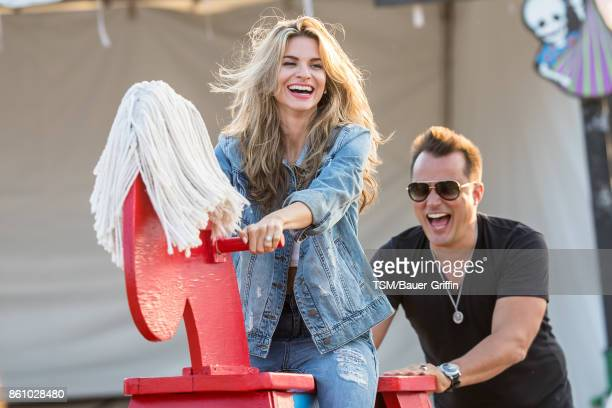 Rachel McCord and her husband Rick Schirmer are seen on October 13 2017 in Los Angeles California