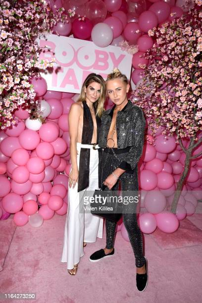 Rachel McCord and Matt Sarafa attend the Booby Tape LA Launch on July 25 2019 in Los Angeles California