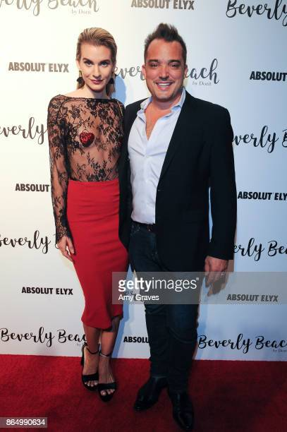 Rachel McCord and Rick Schirmer attend the Dorit Kemsley Preview Event For Beverly Beach By Dorit at The Trunk Club on October 21 2017 in Culver City...