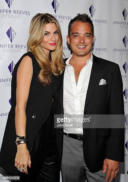 Rachel McCord and Rick Schirmer attends the Jennifer Reeves Designs PreEmmy Awards Party at The Golden Box on September 15 2015 in Hollywood...