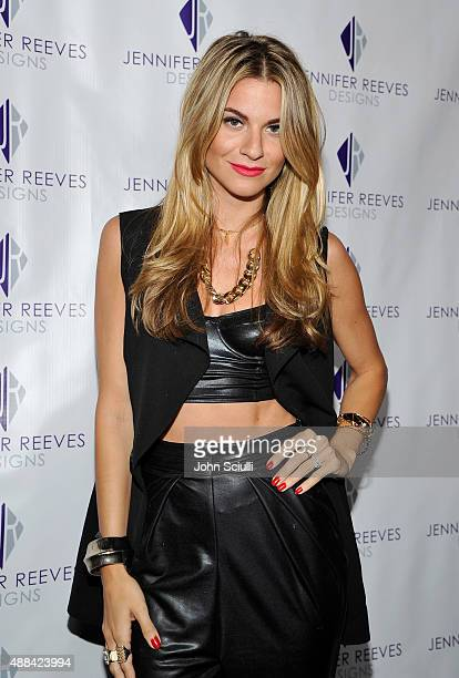 Rachel McCord attends the Jennifer Reeves Designs PreEmmy Awards Party at The Golden Box on September 15 2015 in Hollywood California