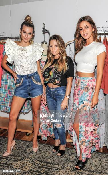 Rachel McCord Donna Katz Basso and Gigi Paris attend Kindom Summer Soiree at Alchemy Works on July 19 2018 in Los Angeles California