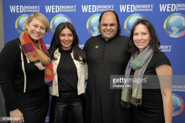 Rachel McPherson Shelly Kapoor Collins Kunal Sood and Barbara Williams attends 2017 Women's Entrepreneurship Day at The United Nations on November 17...
