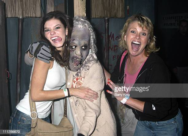 Rachel Melvin and Judi Evans during The Stars of Days of Our Lives and The OC Visit Knott's Scary Farm's 33rd Annual Halloween Haunt at Knott's Berry...