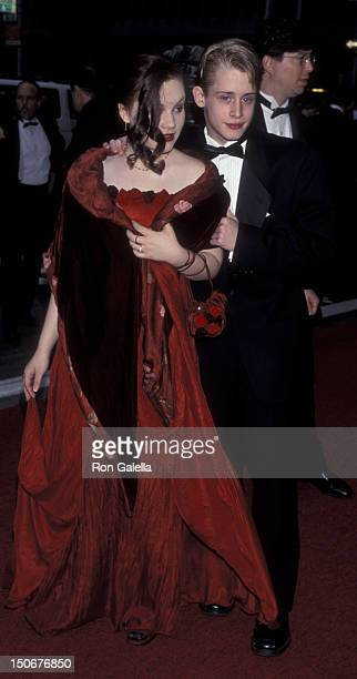 Rachel Miner and Macaulay Culkin attend 52nd Annual Tony Awards on June 7 1998 at Radio City Music Hall in New York City